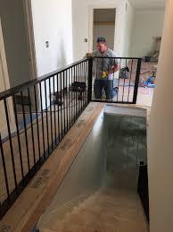 custom metal wood interior railing withheart