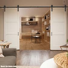 Closet Set by Voilamart 4m Q235 Steel Black Sliding Barn Door Hardware Track Set