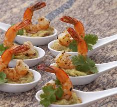 dining canapes recipes prawn and wasabi guacamole canapés recipe centre