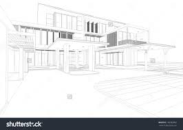 house perspective with floor plan dazzling 4 modern house drawings drawing perspective floor plans