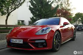 carmine red porsche there u0027s no way you can miss a red porsche panamera turbo s e hybrid