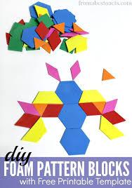 pattern blocks math activities diy foam pattern blocks for preschoolers preschool math activities