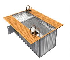 outdoor sauna design and construction made from shipping container