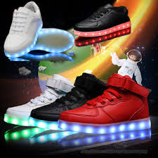 led lights shoes nike kids boys girls high top usb 7 color led light up shoes casual