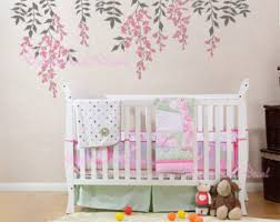 Nursery Wall Decal Hanging Vines Wall Decal For Baby Nursery With Flowers