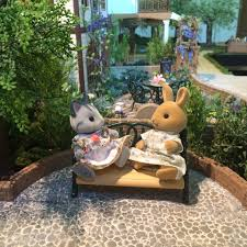 Sylvanian Families Garden Set A Little Trick Curved Surfaces Mimi U0027s Little Sylvanian Town