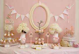 Beautiful Vintage Candy Bar Decoration Idea for Girls Party