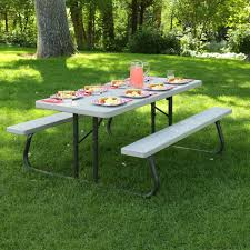 lifetime 6 folding outdoor picnic table brown 60110 furniture lifetime picnic table parts costco canada lowes
