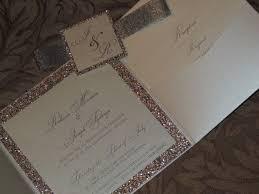 glitter wedding invitations wedding invitations with glitter cloveranddot