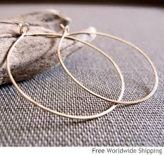 hammered hoops large 14k gold hoop earrings flat hammered hoops