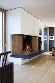 bathroom beautiful open fireplace design with white ceiling and