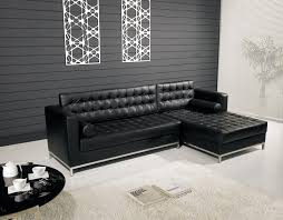 Contemporary Black Leather Sofa Modern Home Living Room Black Leather Sofa With White Frame In