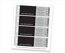 event ticket template 9 free psd vector ai eps format