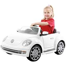 punch buggy car drawing rollplay 6v vw beetle white walmart com
