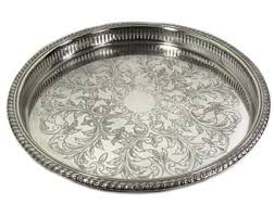 engraved silver platter silver plate etsy