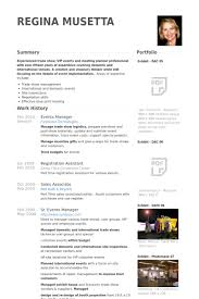 materials manager resume events manager resume samples visualcv resume samples database