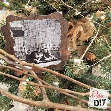 handmade wooden ornaments with photos of diy