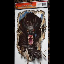 Halloween Monster House Giant Skull Flame Fireplace Wall Decoration Halloween Haunted