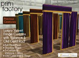Curtain Box Valance Second Life Marketplace Luxury Velvet Fringe Curtains U0026 Box