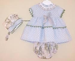 baby girls spanish designer manolitas dobby dress knickers bonnet