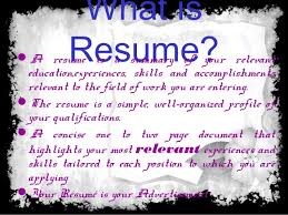 What Is The Purpose Of A Resume What Is Resume Purpose And Objective Of Resume And Type Of Resume