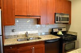 Kitchen Subway Tile Backsplash Pictures by Subway Tile Kitchen Backsplash Home Depot Yellow Cabinet Over Cone