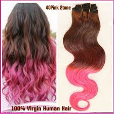 Two Tone Ombre Hair Extensions by 10a 40pink 2 Tone Ombre Remy Hair Bundles Virgin Brazilian Hair