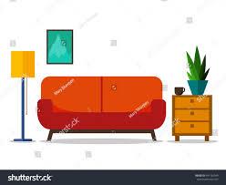 home interior web site print poster stock vector 441192949
