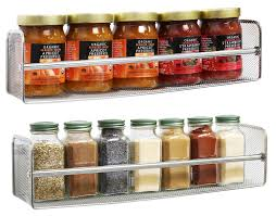 Contemporary Spice Racks Kitchen Alluring Wall Mount Spice Rack For Your Kitchen