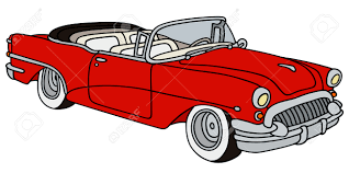 cartoon convertible car hand drawing of a classic convertible royalty free cliparts