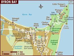 map of ta bay map of byron bay