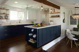navy blue kitchen cabinet design 25 inviting blue kitchen cabinets to