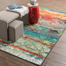 Multi Colored Area Rug Mohawk Home Strata Eroded Color Area Rug 7 6 X 10 Overstock