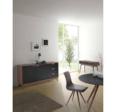 Zuo Modern Desk by Zuo Modern Liberty City Buffet Walnut U0026 Black 199055 Modern