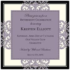 retirement invitations decorative square border eggplant retirement invitations paperstyle