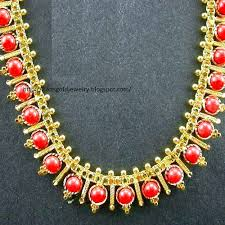 gold jewellery designs light weight coral necklace designs