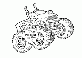 cool monster truck coloring page for kids transportation coloring