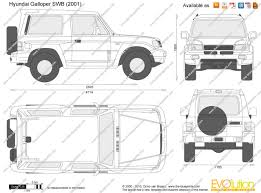 galloper the blueprints com vector drawing hyundai galloper swb
