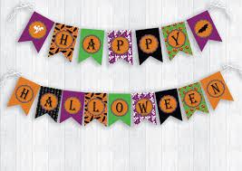 halloween banner printable halloween party printable banner