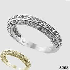 filigree wedding band 14k gold antique fancy filigree wedding band ring