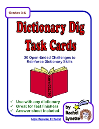 Challenge Dictionary Dictionary Dig Task Cards 30 Challenges To Practice Dictionary
