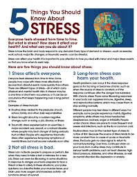 nimh 5 things you should know about stress