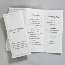 folded wedding program trifold wedding program templates endo re enhance dental co
