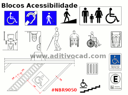 Top Blocos PNE acessibilidade para AutoCAD - Download | AditivoCAD.Com #SA74