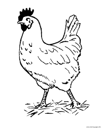 farm animal s hen free53fb coloring pages printable