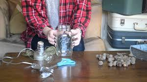 how to make a mason jar lamp tutorial youtube