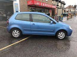 volkswagen polo 1 2 petrol manual 3 door hatchback blue 2006