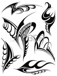 traditional maori tattoo design with turtle royalty free cliparts