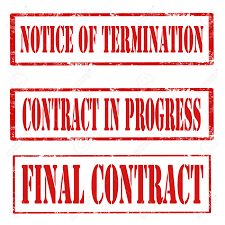 Contract Termination Notice Set Of Grunge Rubber Stamps With Text Notice Of Termination