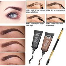 henna eye makeup 2pcs brown lasting tint eyebrow henna eyebrows paint brush